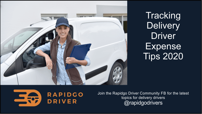 Delivery Driver Flex Expense Apps for collecting data for tax deductions is important.