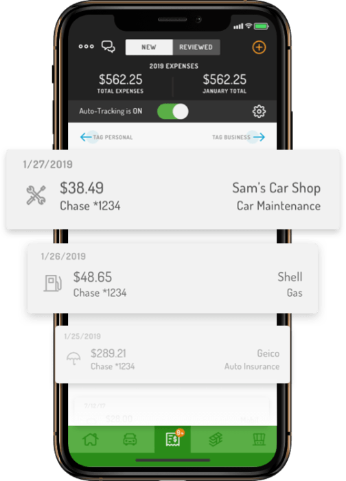 The use of an app to collect driving and expense data for tax deduction input saves time and money.