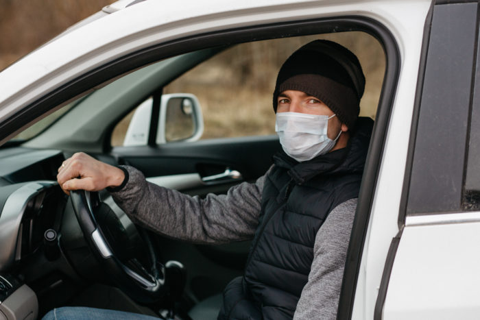 Delivery Driver Mask Protection