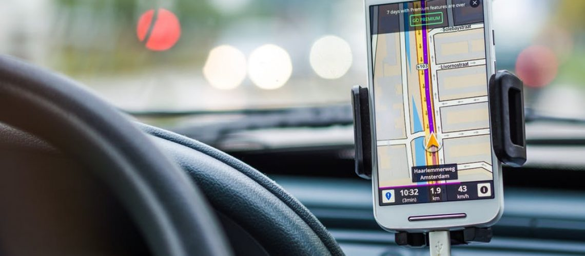 Delivery Driver Safe GPS Usage